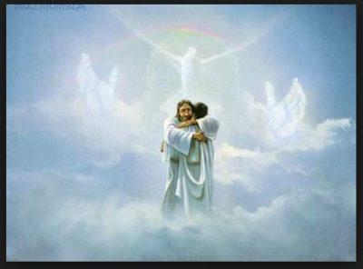 imagen de jesus en el cielo